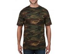 Мъжка камуфлажна тениска Anvil тъмен камуфлаж