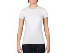 Бяла дамска тениска Anvil