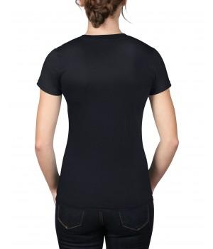 Дамска тениска Anvil черна