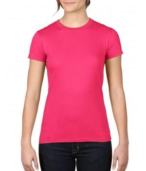Дамска тениска Anvil цикламена