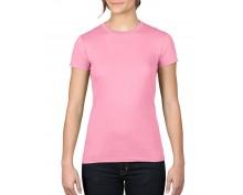 Розова дамска тениска Anvil