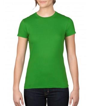 Дамска тениска Anvil цвят зелена ябълка