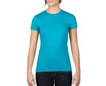 Дамска тениска Anvil цвят карибско син