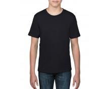 Детска, черна тениска Anvil