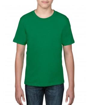 Детска, зелена тениска Anvil