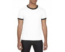 Adult fashion nasic ringer tee white and black