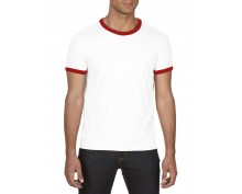 Тениска Ringer tee с червено бие