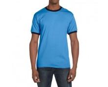 Adult fashion nasic ringer tee blue color