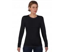 Дамска,черна тениска дълъг ръкав Anvil