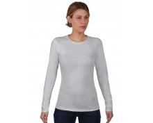 Дамска,св.сива тениска дълъг ръкав Anvil