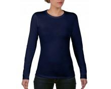 Дамска,т.синя тениска дълъг ръкав Anvil