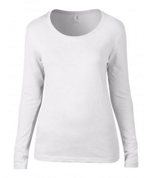 Дамска тениска  Anvil широко деколте