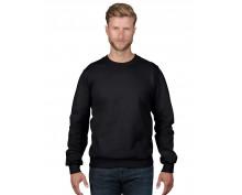 Черен памучен пуловер Anvil