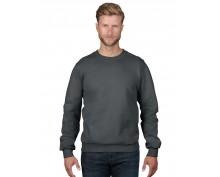 Памучен пуловер Anvil цвят графит