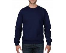 Тъмно син памучен пуловер Anvil