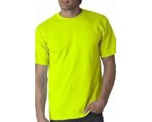 Тениска класическа Anvil-жълт неон