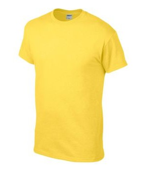 Тениска класическа Anvil-жълта