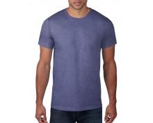 Мъжка тениска Anvil цвят син меланж