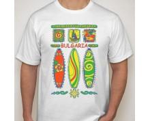 Мъжка тениска с щампа Sun & fun