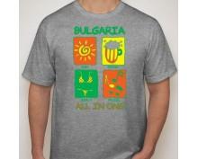 Мъжка тениска с щампа All in one