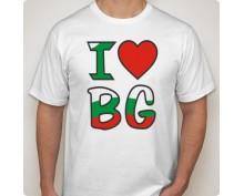 Мъжка тениска с щампа love BG