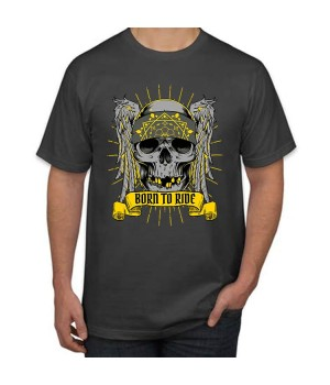 Тениска с печат Born to Ride