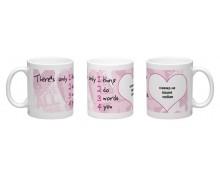 I Love You -2 printed mug