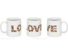 LOVE printed mug
