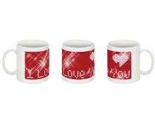 I Love U printed mug
