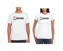 T-shirt for couple  I Love my boyfriend