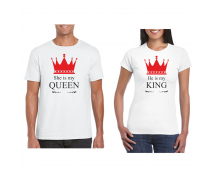 T-shirt for couple King-Queen