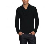 Черна тениска с дълъг ръкав Born in USA