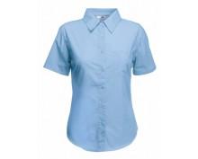 Светло синя дамска риза къс ръкав