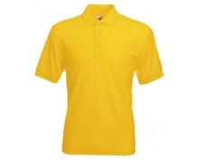 Жълта тениска с яка тип поло