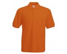 Оранжева тениска с яка тип поло