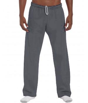 Ватиран, тъмно сив спортен панталон Gildan