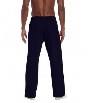 Heavy blend open bottom pants color navy