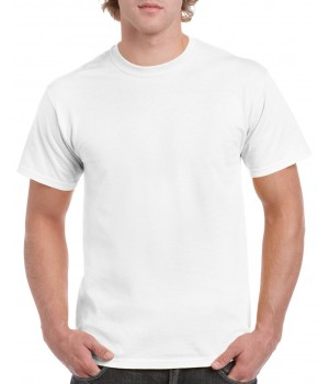 Gildan heavy cotton, white t-shirt