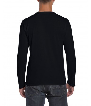Мъжка, черна тениска Gildan дълъг ръкав