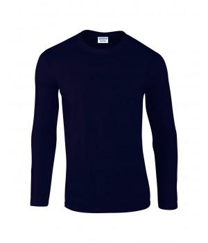 Мъжка, т.синя тениска Gildan дълъг ръкав