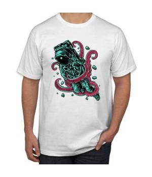 Мъжка тениска с щампа Astronaut Octopus