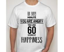 Тениска с щампа  Happiness-2