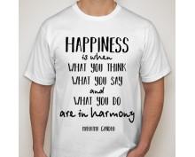 Тениска с щампа  Happiness