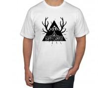 Тениска с щампа Happy Camper