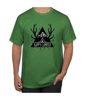 Мъжка тениска с щампа Happy Camper