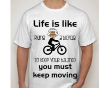 Тениска с щампа  Riding Bike