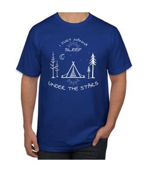 Мъжка тениска с щампа Sleep Under the Stars