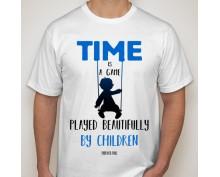 Тениска с щампа  Time is