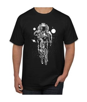 Tениска с щампа Astronaut Bicycle