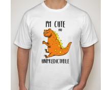 Тениска с щампа  I am cute